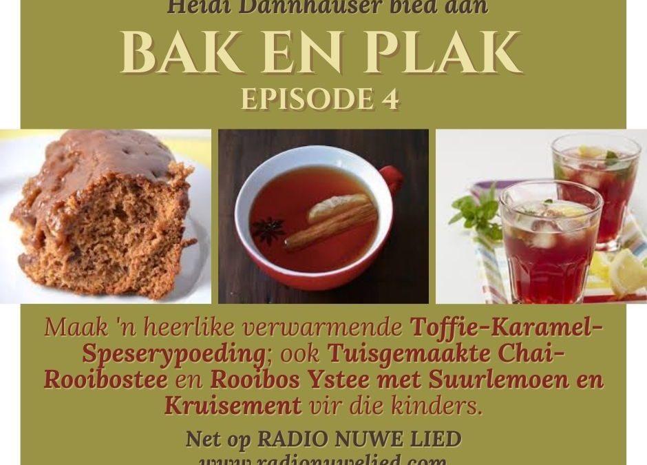 Toffie-Karamel-Speserypoeding en Spesery Rooibostee